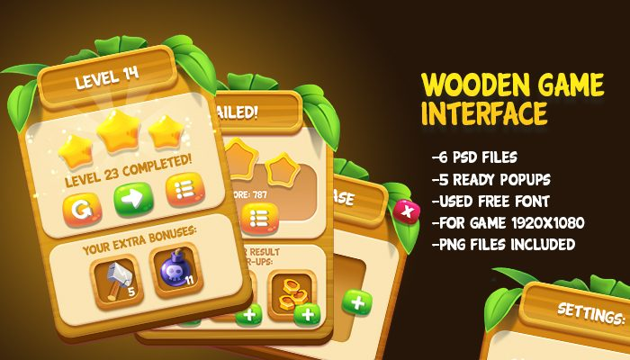 Wooden Game Interface