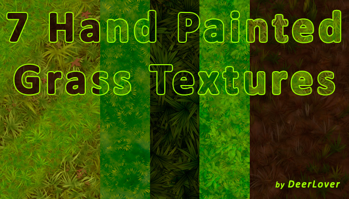 Grass Textures Hand Painted