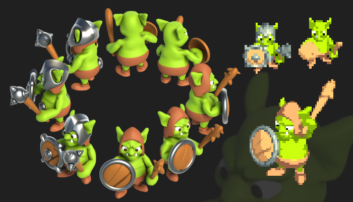 Goblin Cartoon – Isometric (8 Directions)
