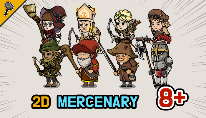 Fantasy 2D Mercenary Character Pack