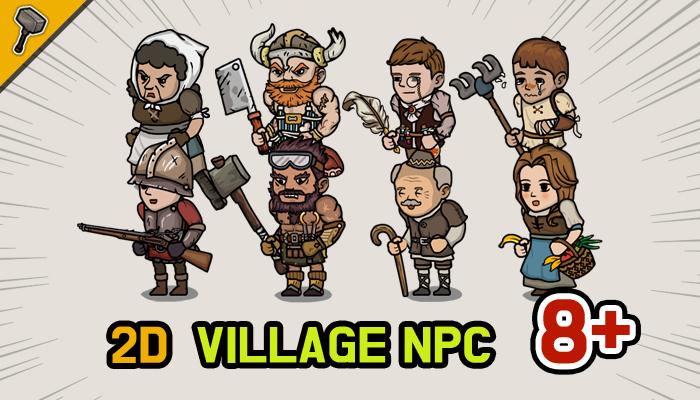 Fantasy 2D Village NPC Character Pack