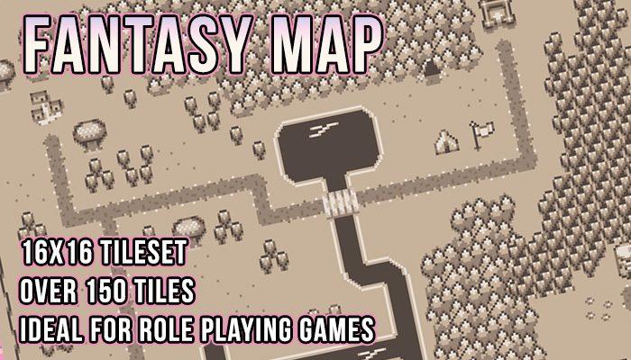 Retro Fantasy Map Tileset