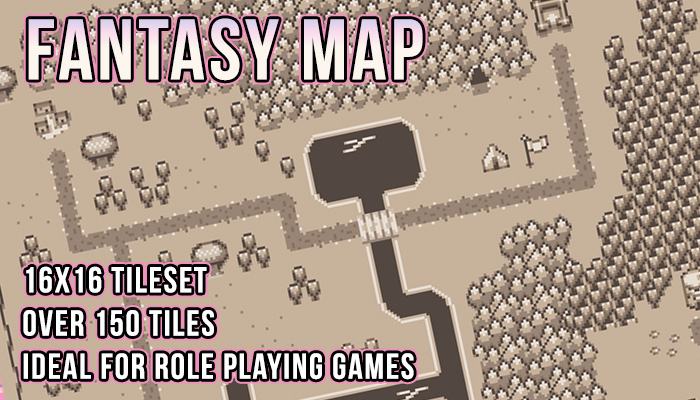 Retro Fantasy Map Tileset