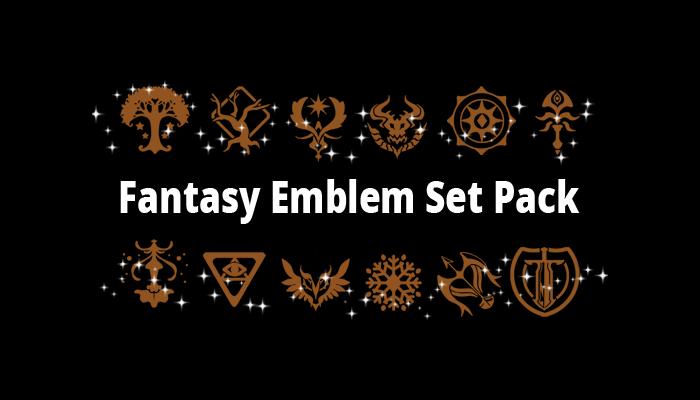 Fantasy Emblem Set Pack