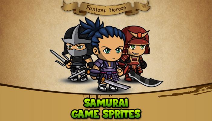 Fantasy Heroes: Samurai Sprite Sheet
