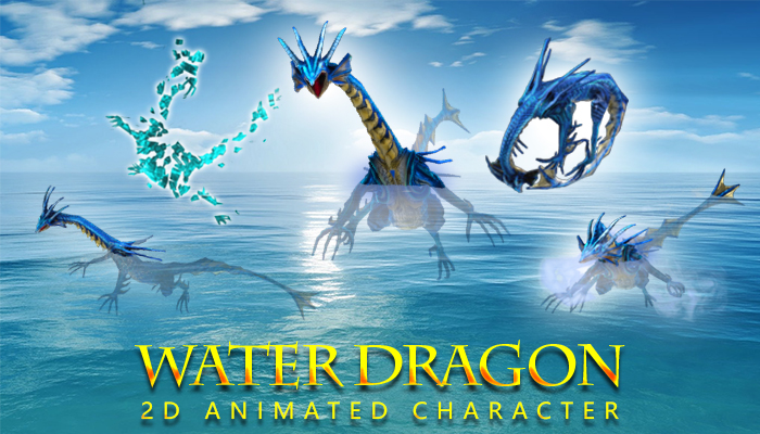 2D Animated Water Dragon