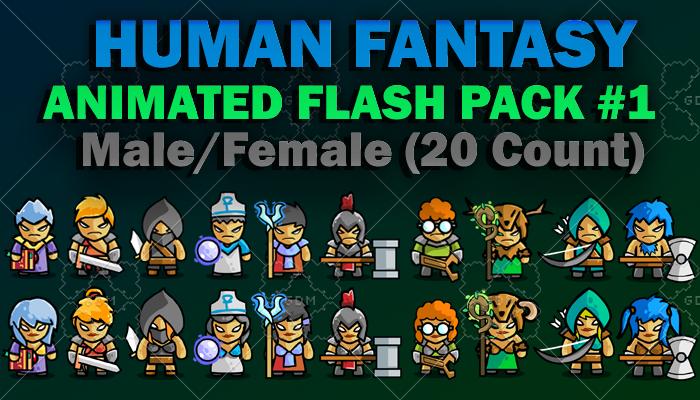Human Fantasy ANIMATED Flash Pack 1