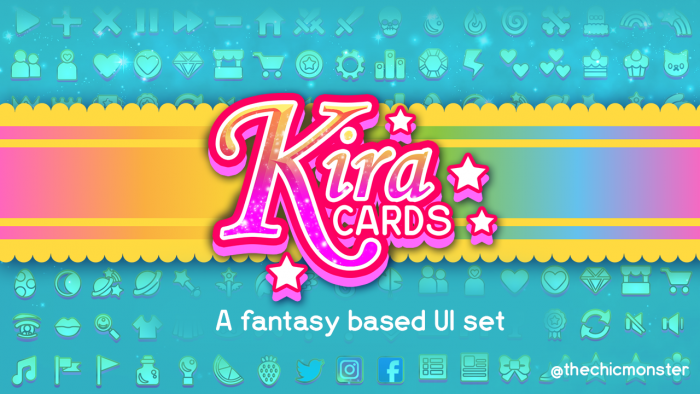 Kira Cards: a cute fantasy based UI set