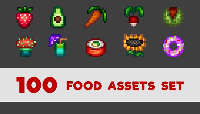 100 Food assets