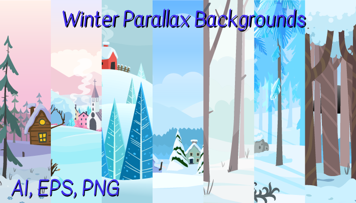 Winter Parallax Backgrounds