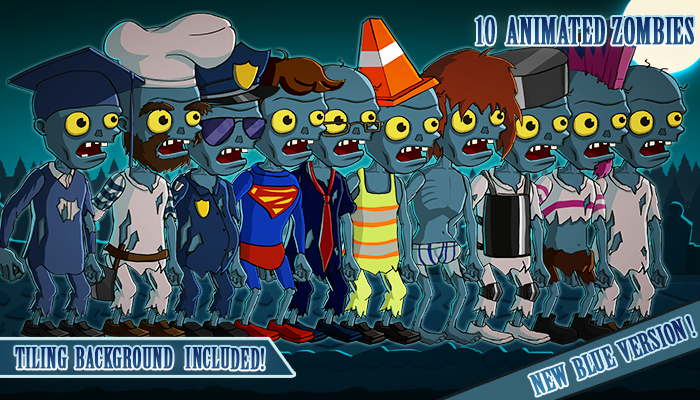 Animated 2D Zombies Pack 4 of 4