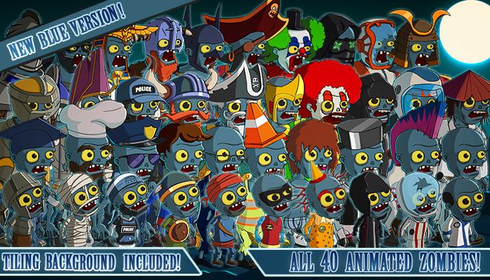 Animated 2D Zombies Bundle – 40 Unique Zombies