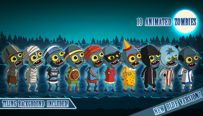Animated 2D Zombies Pack 2 of 4