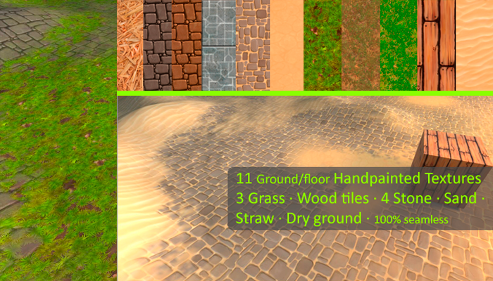Hand Painted Ground Textures