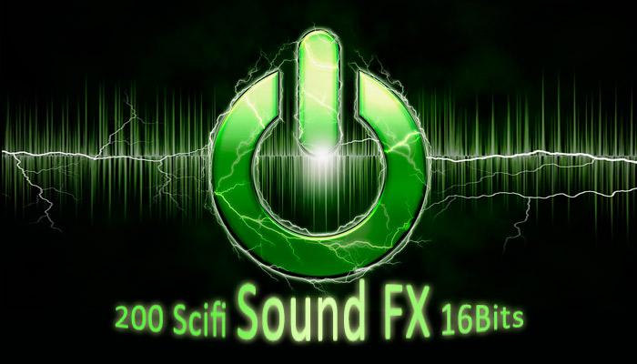 200 Scifi Sound FX 16bits