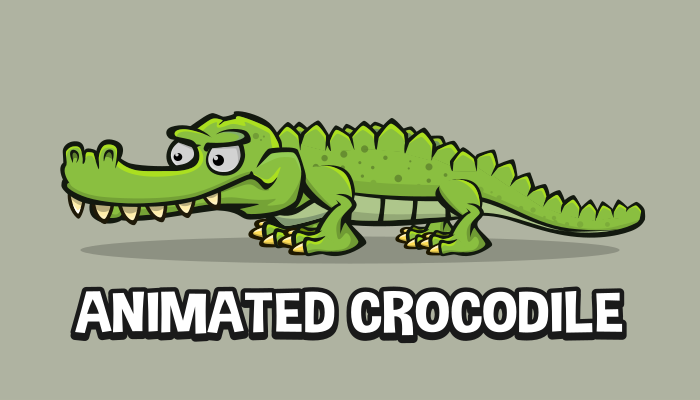 Animated crocodile