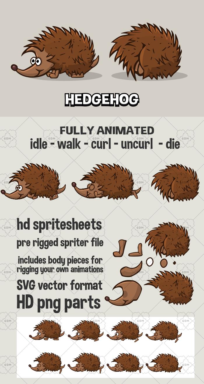 Animated hedgehog