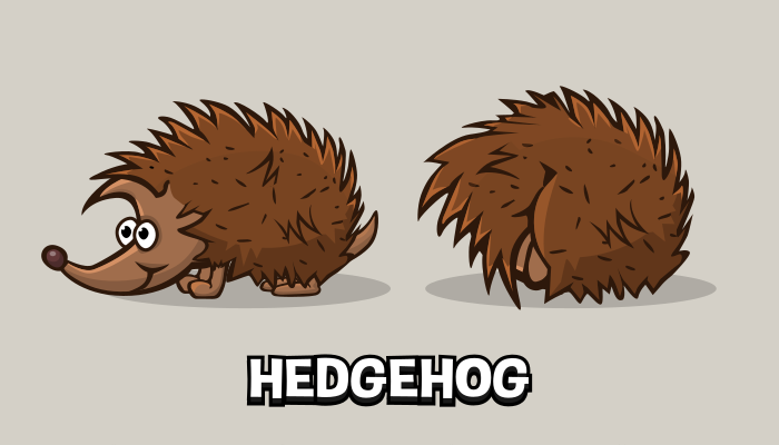 Animated hedgehog