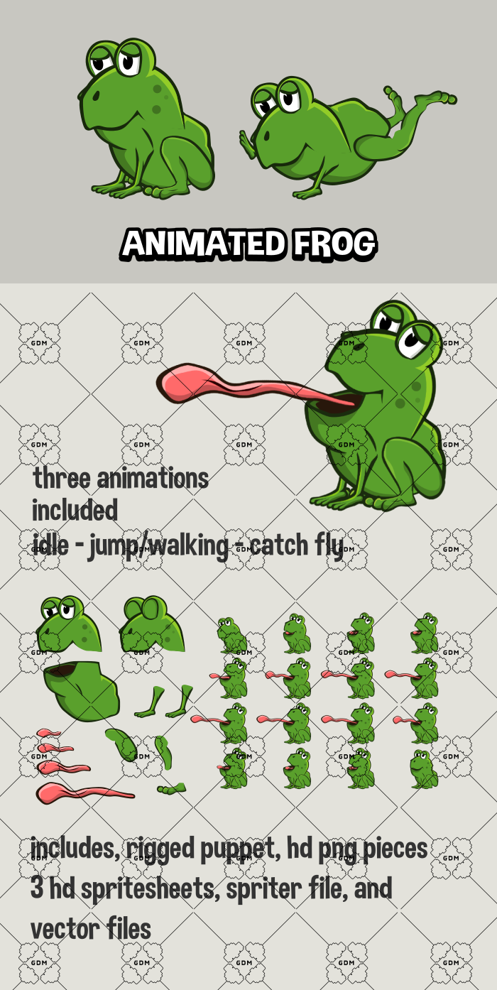 Animated frog