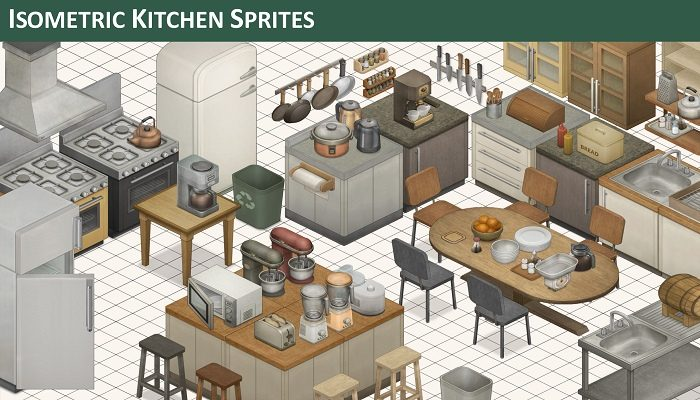 Isometric Kitchen Sprites
