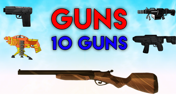 10 guns 2d editable hd quality