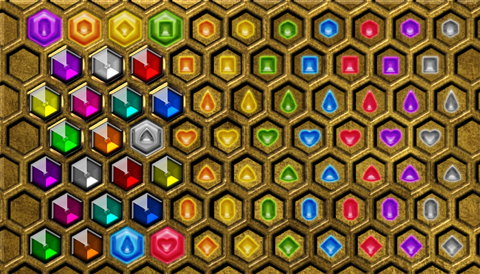 Hexagon Match 3 – Board and Gems