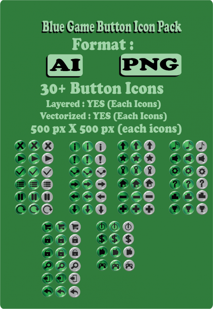 Green Buttons Icon