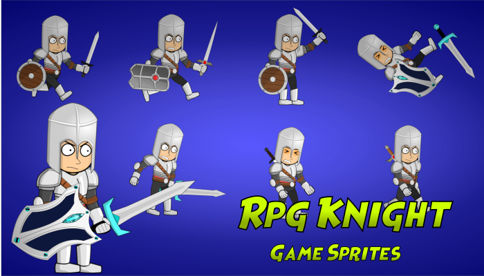 Rpg Knight Charater Spritesheet
