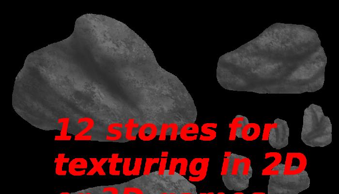 2D handpainted stones pack – 01