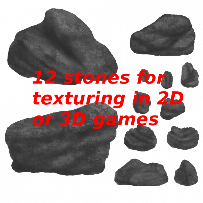 2D handpainted stones pack – 01