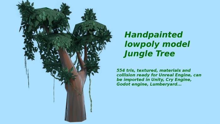 Handpainted jungle tree
