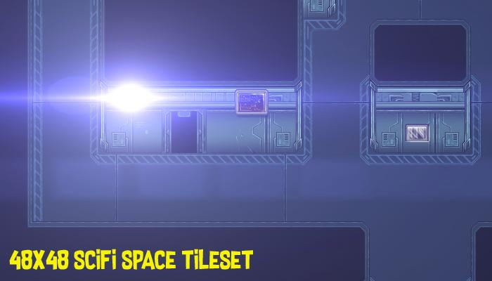 Space Scifi Rpg Tiles 48×48