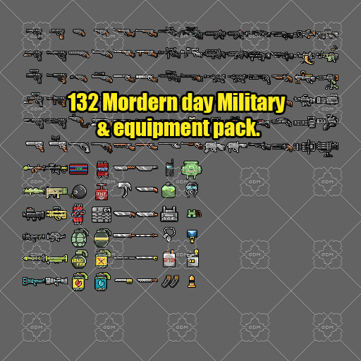 Military Weapons & equipments pack 132