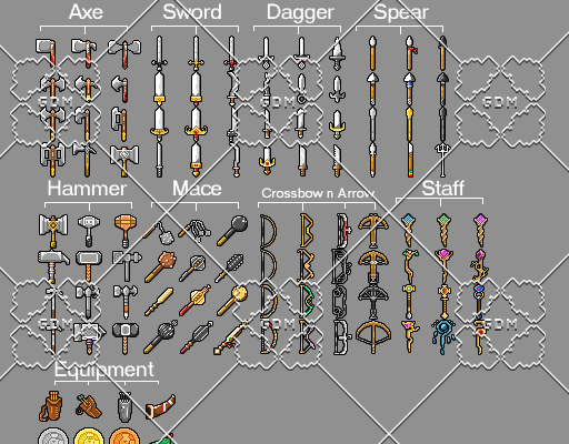 Medival Weapons and equipments pack 116