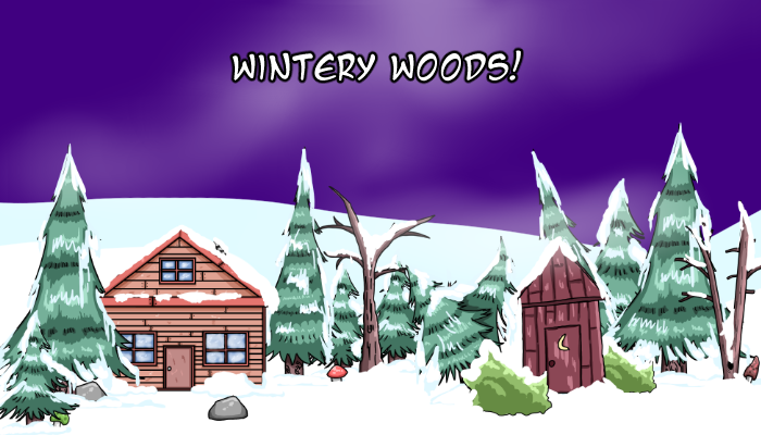 Mysterious Winter Woods + non winter