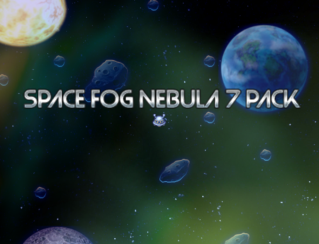 7 Space Fog Nebula Overlays
