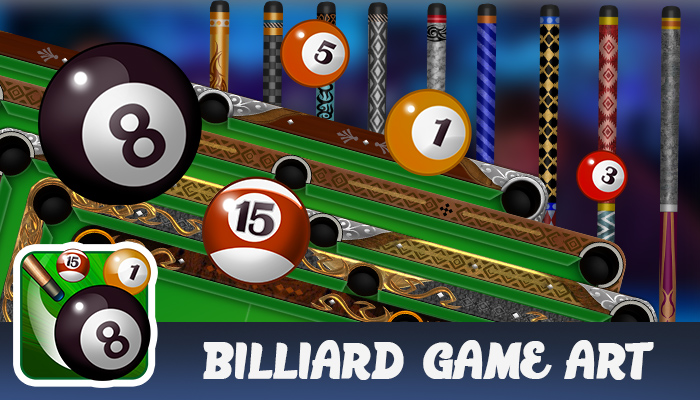 Billiard Game Art
