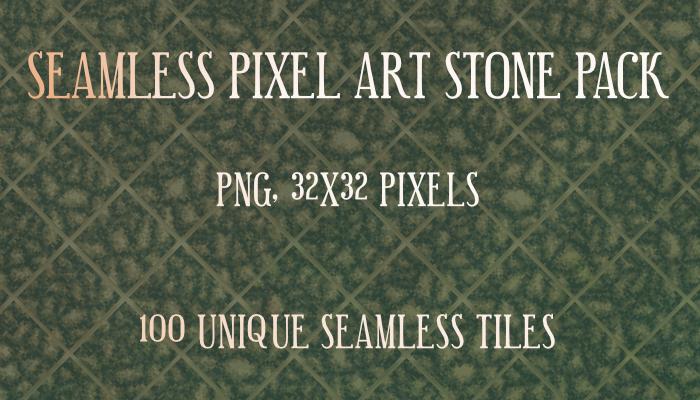 Seamless pixel art stone pack