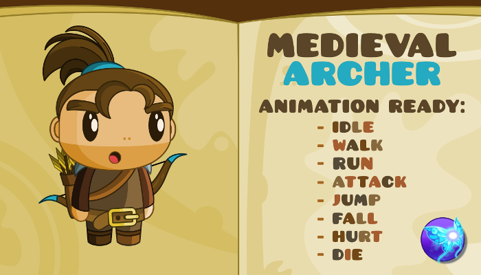 Medieval Archer Character – New Fantasy Style