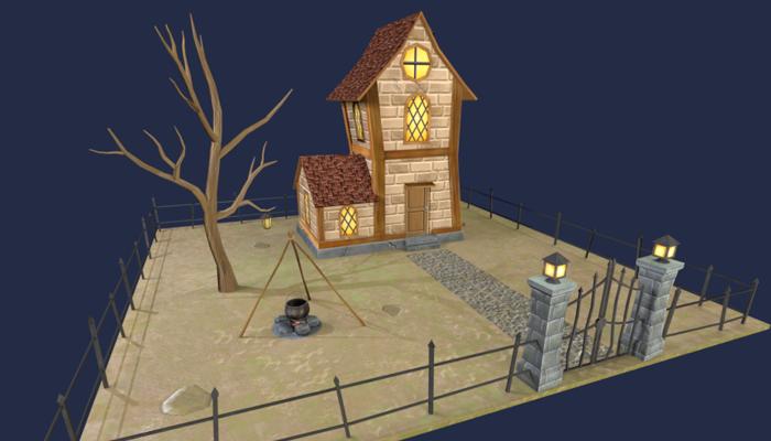 Fantasy House Low Polygon