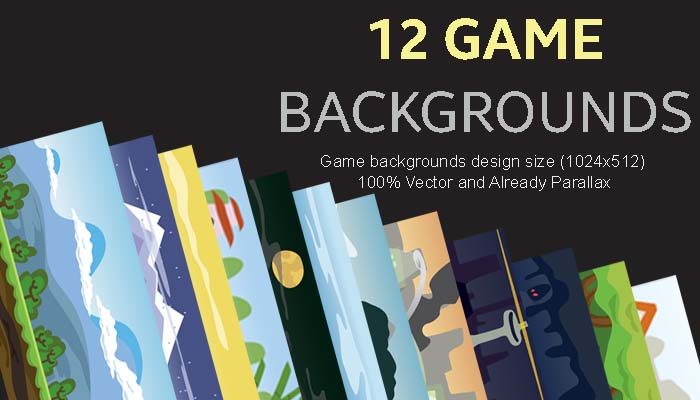 12 Game Backgrounds Pack