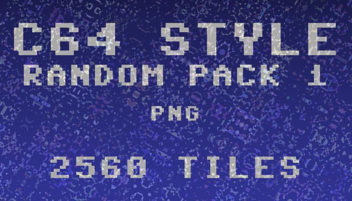 Random C64-style tiles pack 1