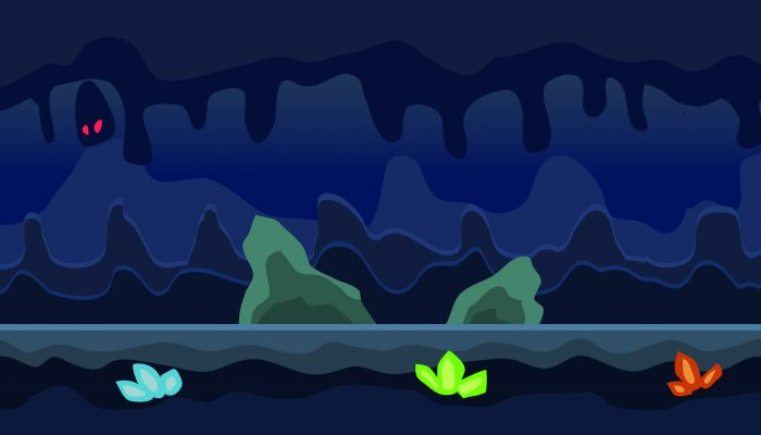 Background Game Cave Parallax