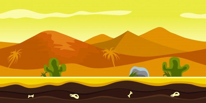 Background Game Desert Parallax