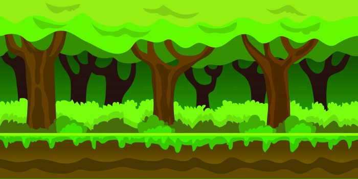 Background Game Jungle Parallax