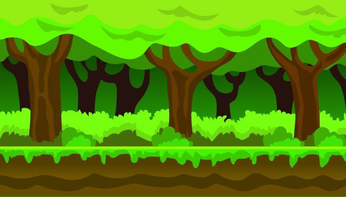 Background Game Jungle Parallax