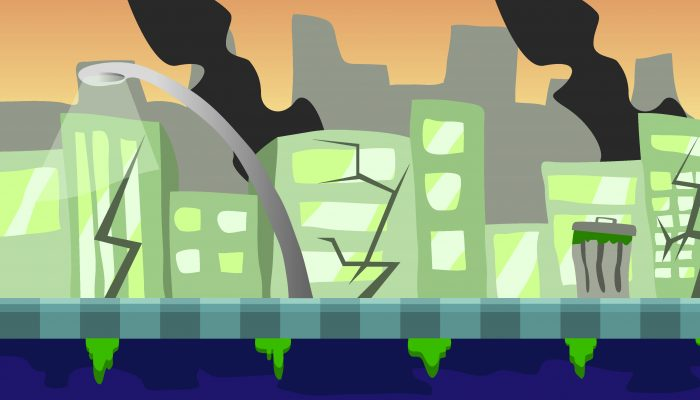 Background Game Destroyed City Parallax