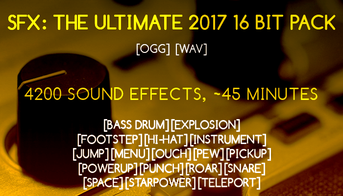SFX: The Ultimate 2017 16 bit pack