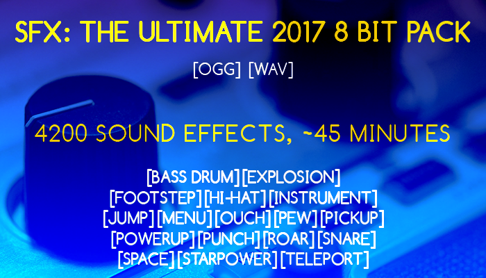 SFX: The Ultimate 2017 8 bit pack