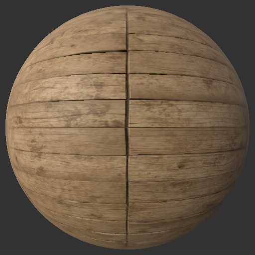Procedural wood planks
